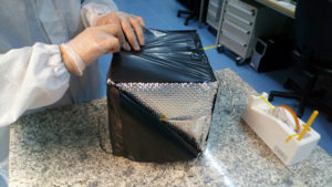 Integracja prototypu modelu 3D MLI w cleanroom_Spacive